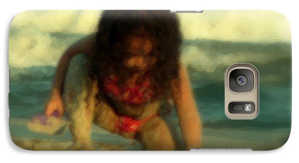 Galaxy Case featuring the photograph Little Girl At The Beach by Lydia Holly