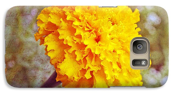 Galaxy Case featuring the photograph Little Golden  Marigold by Kay Novy