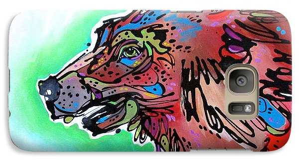 Galaxy Case featuring the painting Little Griz by Nicole Gaitan