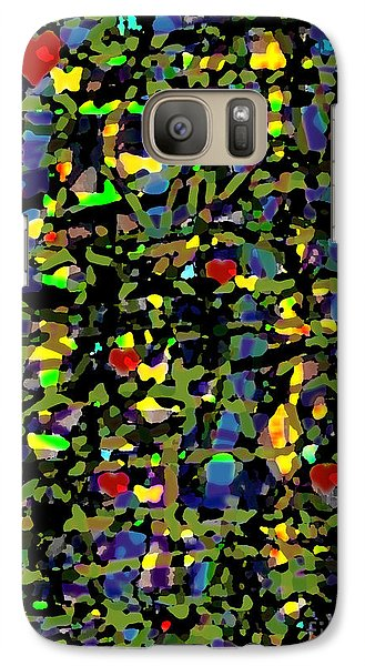 Galaxy Case featuring the digital art Little Hearts by Patricia Januszkiewicz