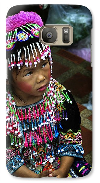 Galaxy Case featuring the photograph Little Hill Tribe Girl by Rob Tullis