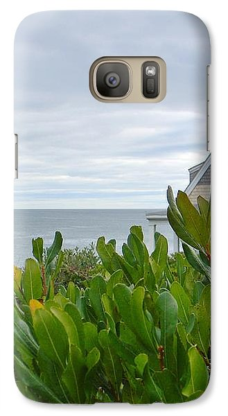 Galaxy Case featuring the photograph Little House By The Sea by Jean Goodwin Brooks