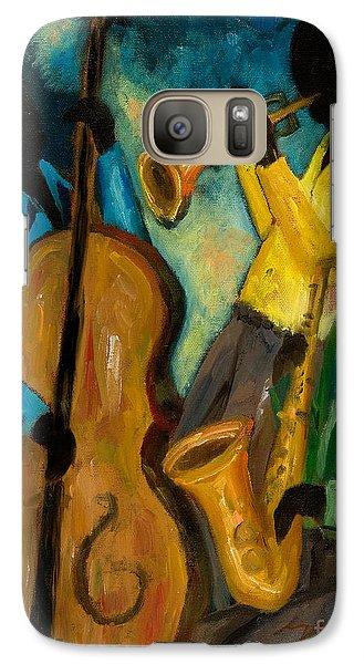 Trumpet Galaxy S7 Case - Little Jazz Trio IIi by Larry Martin