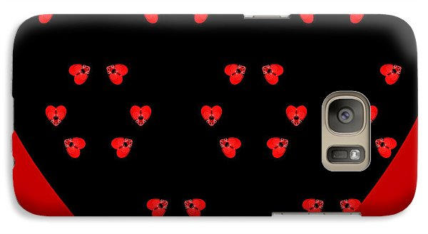 Galaxy Case featuring the digital art Little Kaleidoscope Hearts by Pete Trenholm
