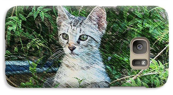 Galaxy Case featuring the photograph Little Kitten by Kathy Churchman