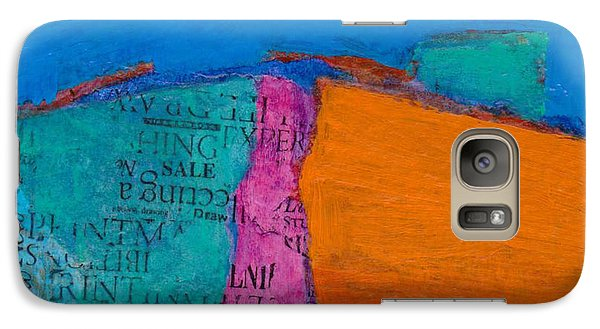 Galaxy Case featuring the mixed media Little Landscape by Catherine Redmayne