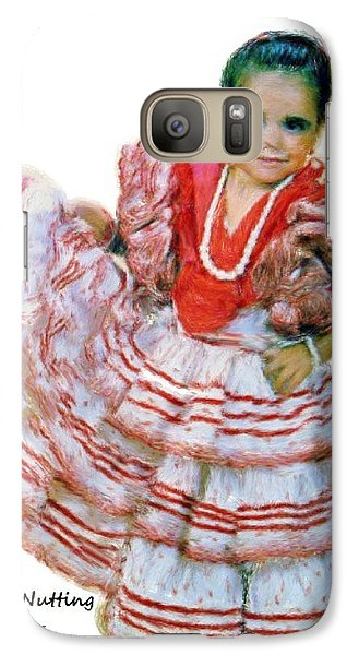 Galaxy Case featuring the painting Little Lidia by Bruce Nutting