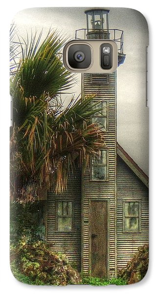 Galaxy Case featuring the photograph Little Lost Lighthouse by Myrna Bradshaw