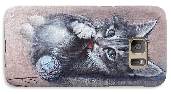 Galaxy Case featuring the painting Little Mischief by Cynthia House