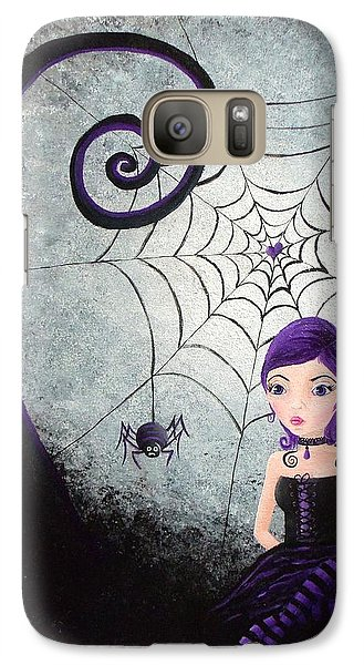 Galaxy Case featuring the painting Little Miss Muffet by Oddball Art Co by Lizzy Love
