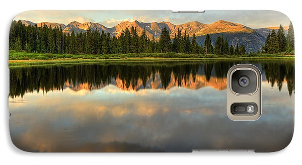 Galaxy Case featuring the photograph Little Molas Lake At Sunset by Alan Vance Ley