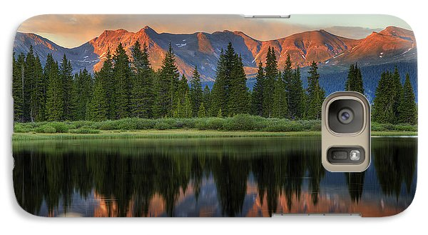 Galaxy Case featuring the photograph Little Molas Lake Sunset 2 by Alan Vance Ley