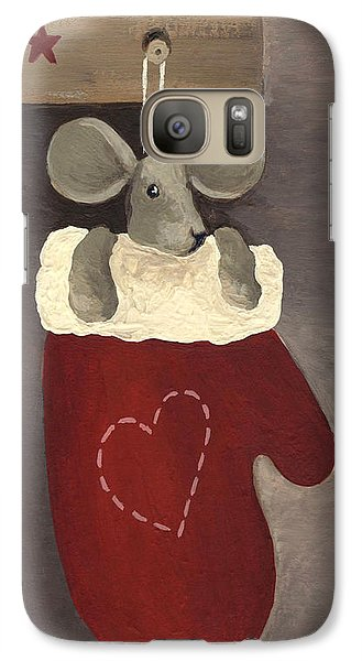 Galaxy Case featuring the painting Little Mouse by Natasha Denger