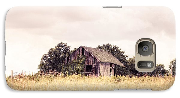 Galaxy Case featuring the photograph Little Old Barn In A Field - Landscape  by Gary Heller