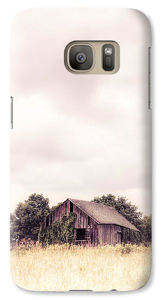 Galaxy Case featuring the photograph Little Old Barn In The Field - Ontario County New York State by Gary Heller