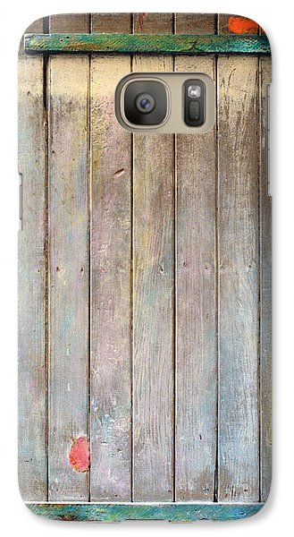 Galaxy Case featuring the sculpture Little Painted Gate In Summer Colors  by Asha Carolyn Young
