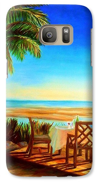 Galaxy Case featuring the painting Little Palm Island - Little Torch Key by Shelia Kempf