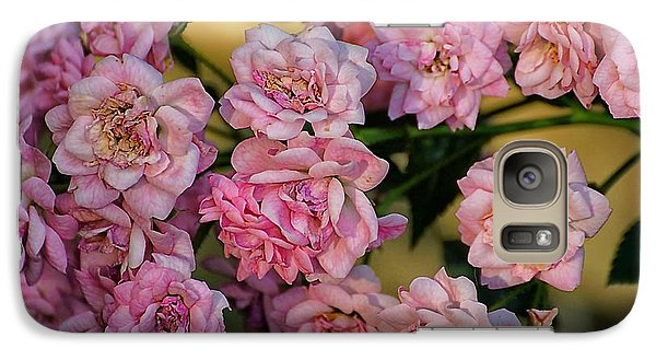 Galaxy Case featuring the photograph Little Pink Roses For You by Beth Akerman