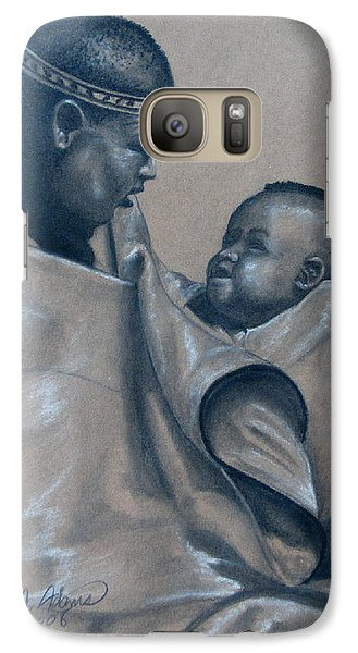 Galaxy Case featuring the mixed media Little Prince by James McAdams