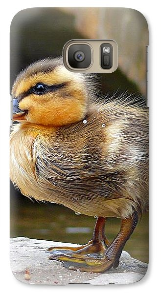 Galaxy Case featuring the photograph Little Quack by Morag Bates