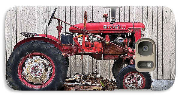 Galaxy Case featuring the photograph Little Red Farmall by Craig T Burgwardt