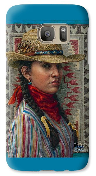 Galaxy Case featuring the painting Little Rising Hawk by Jane Bucci