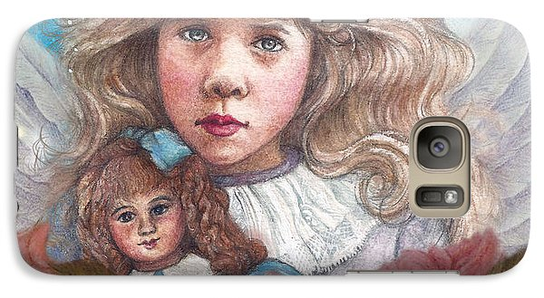 Galaxy Case featuring the painting Little Rose Angel by Judith Cheng