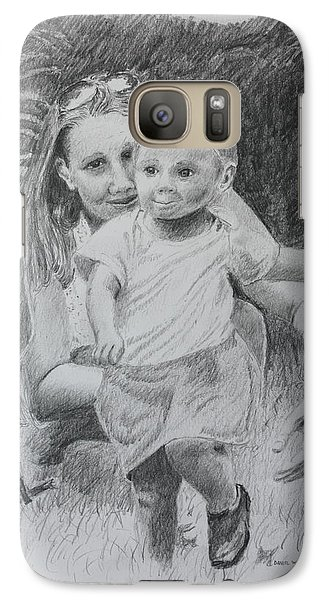 Galaxy Case featuring the drawing Little Runaway by Daniel Reed