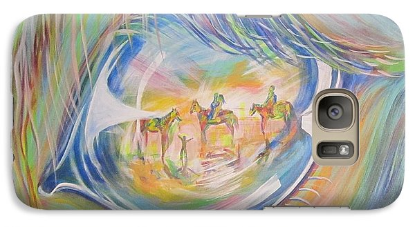 Galaxy Case featuring the painting Little Warrior by Cathy Long