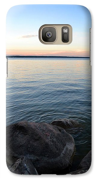 Galaxy Case featuring the digital art Little Waves On The Water 2  by Lyle Crump