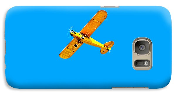 Galaxy Case featuring the photograph Little Yellow Flyer Plane by Tracie Kaska