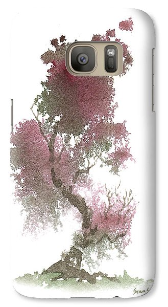 Galaxy Case featuring the painting Little Zen Tree 1117 by Sean Seal