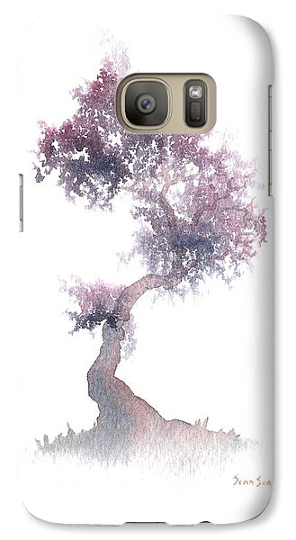 Galaxy Case featuring the painting Little Zen Tree 1508 by Sean Seal