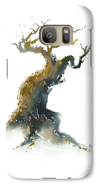 Galaxy Case featuring the painting Little Zen Tree 1582 by Sean Seal