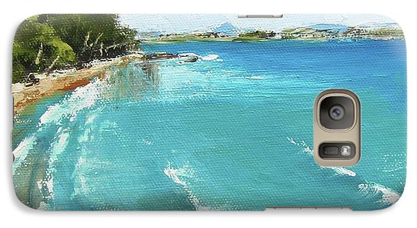 Galaxy Case featuring the painting Litttle Cove Beach Noosa Heads Queensland Australia by Chris Hobel