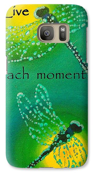 Galaxy Case featuring the painting Live Each Moment by Janet McDonald