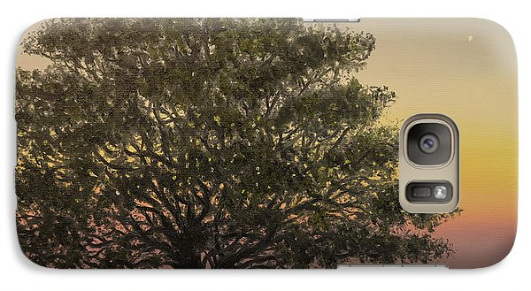 Galaxy Case featuring the painting Live Oak - Farm Fields Near Tabor City Nc by Kathleen McDermott