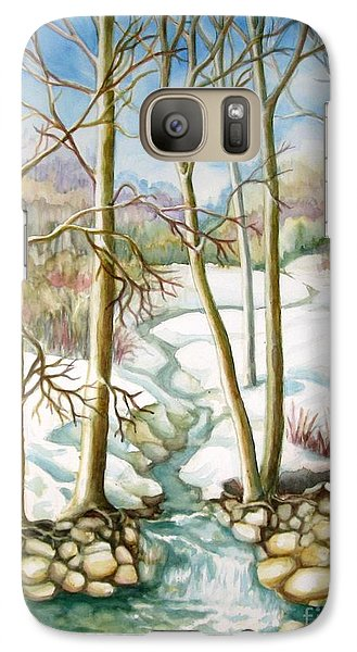 Galaxy Case featuring the painting Living Creek by Inese Poga