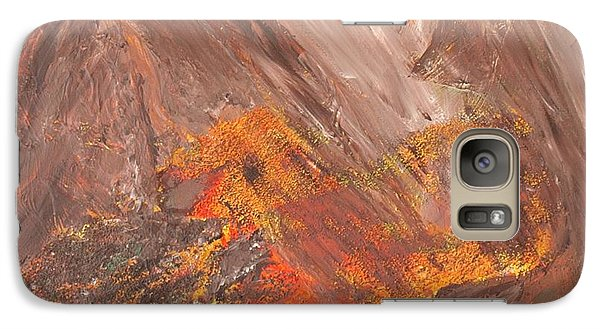 Galaxy Case featuring the painting Living Earth-kneeling Buddha by Susan  Dimitrakopoulos