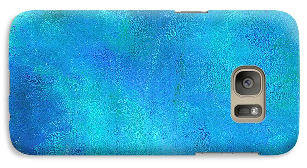 Galaxy Case featuring the photograph Living In A Blue World by Ann Johndro-Collins