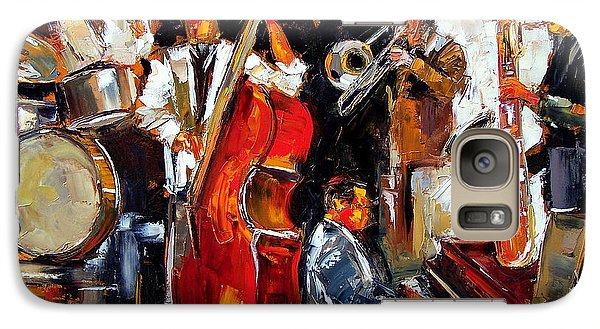 Drum Galaxy S7 Case - Living Jazz by Debra Hurd