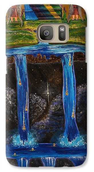 Galaxy Case featuring the painting Living Water by Cassie Sears