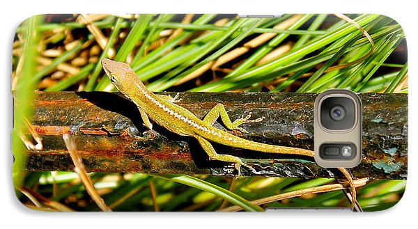 Galaxy Case featuring the photograph Lizard by Cyril Maza