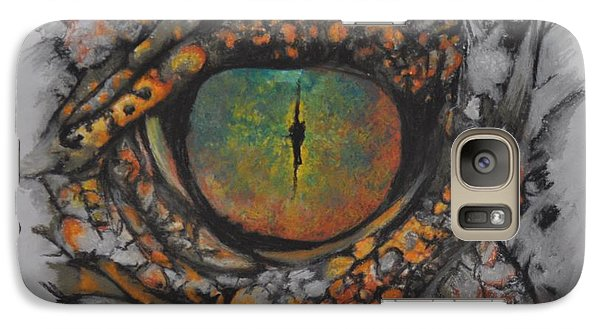 Galaxy Case featuring the pastel Lizards Eye by Linda Ferreira