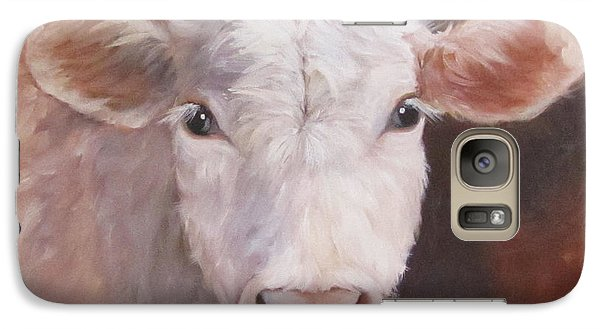 Galaxy Case featuring the painting Lizzy Has A Bad Hair Day by Cheri Wollenberg