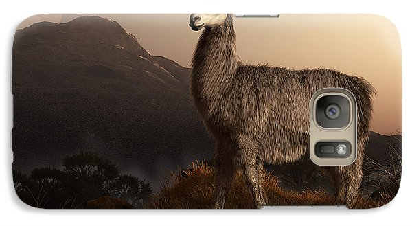 Llama Dawn Galaxy S7 Case by Daniel Eskridge