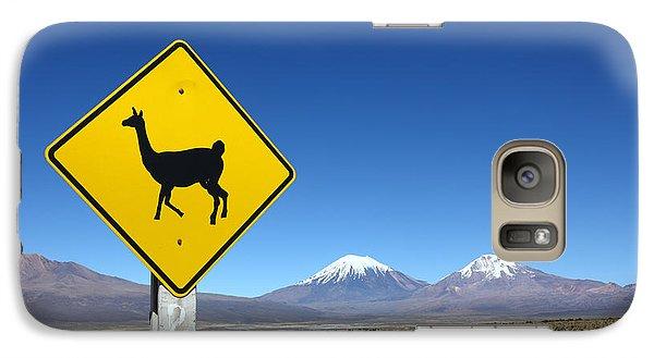 Llama Galaxy S7 Case - Llamas Crossing Sign by James Brunker