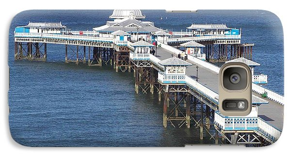 Galaxy Case featuring the photograph Llandudno Pier by Christopher Rowlands