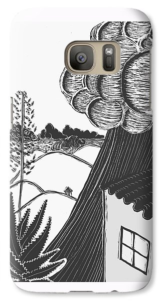 Galaxy Case featuring the drawing Lluvia by Aurora Levins Morales
