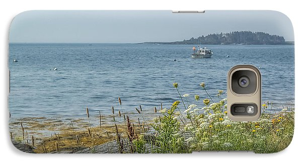 Galaxy Case featuring the photograph Lobster Boat At Rest by Jane Luxton